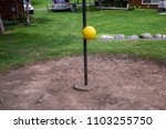 tether ball yellow grass green... | Shutterstock . vector #1103255750