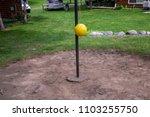 tether ball yellow grass green... | Shutterstock . vector #1103255750