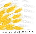 illustration of wheat ears.... | Shutterstock .eps vector #1103261810