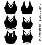 black silhouette. set of women...   Shutterstock .eps vector #1103261849