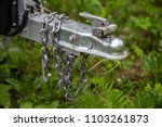 trailer hitch chain tow chains... | Shutterstock . vector #1103261873