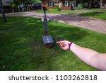 washer toss game fun bag yard... | Shutterstock . vector #1103262818