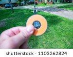 washer toss game fun bag yard... | Shutterstock . vector #1103262824
