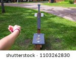 washer toss game fun bag yard... | Shutterstock . vector #1103262830