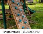 playground rock climbing wall... | Shutterstock . vector #1103264240