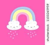 rainbow illustration baby  | Shutterstock .eps vector #1103265959