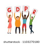 gdpr concept illustration. idea ... | Shutterstock .eps vector #1103270180