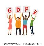 gdpr concept illustration. idea ... | Shutterstock .eps vector #1103270180