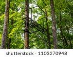 deer stand hunting metal woods... | Shutterstock . vector #1103270948