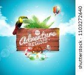 the adventure begins... | Shutterstock .eps vector #1103272640