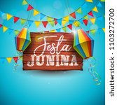 festa junina illustration with... | Shutterstock .eps vector #1103272700
