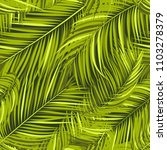 seamless pattern of palm leaves.... | Shutterstock .eps vector #1103278379