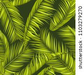 seamless pattern of palm leaves.... | Shutterstock .eps vector #1103279270