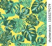 seamless tropical pattern.... | Shutterstock .eps vector #1103279279