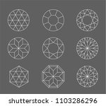 diamond. vector set of gems... | Shutterstock .eps vector #1103286296