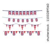 union jack flag design | Shutterstock .eps vector #1103289560