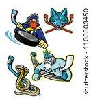 mascot icon illustration set of ... | Shutterstock .eps vector #1103303450
