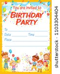 invitation card for the... | Shutterstock .eps vector #1103304404