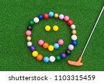 Colorful Mini Golf Ball Happy...