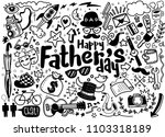 happy father s day hand drawn... | Shutterstock .eps vector #1103318189