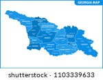 the detailed map of the georgia ... | Shutterstock .eps vector #1103339633