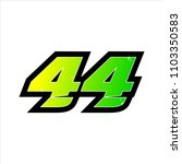 race number green forty four | Shutterstock .eps vector #1103350583
