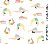 yoga seamless pattern with... | Shutterstock .eps vector #1103353838