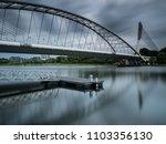 seri wawasan bridge with moving ...   Shutterstock . vector #1103356130