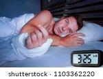 worried sad young attractive... | Shutterstock . vector #1103362220