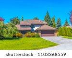 big custom made luxury house... | Shutterstock . vector #1103368559