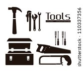silhouette of tools  with a... | Shutterstock .eps vector #110337356