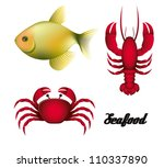 illustration of sea animals ... | Shutterstock .eps vector #110337890