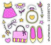 dress  shoes  ring  bow  bag ...   Shutterstock .eps vector #1103385710