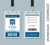 doctor id card. medical... | Shutterstock .eps vector #1103386223