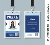 press reporter id card template | Shutterstock .eps vector #1103386229