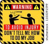 funny warning sign. to avoid... | Shutterstock .eps vector #1103391599