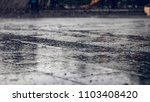 wet rainy floor ground on a... | Shutterstock . vector #1103408420