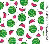 watermelon seamless pattern... | Shutterstock .eps vector #1103412428
