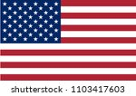 usa flag  colored flat icon... | Shutterstock .eps vector #1103417603