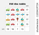 mathematics game with pictures  ... | Shutterstock .eps vector #1103419724