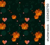 ditsy floral pattern with... | Shutterstock .eps vector #1103420750