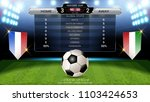 football scoreboard team a vs... | Shutterstock .eps vector #1103424653