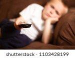 shallow depth of field of a boy ... | Shutterstock . vector #1103428199