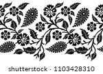 seamless paisley with flower... | Shutterstock .eps vector #1103428310