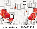 3d rectangular background with... | Shutterstock . vector #1103429459