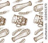 vector hand drawn seamless... | Shutterstock .eps vector #1103431370