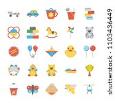 children and kids flat icons... | Shutterstock .eps vector #1103436449