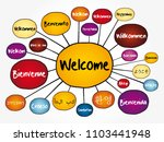 welcome in different languages... | Shutterstock .eps vector #1103441948