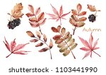 watercolor ornament with autumn ... | Shutterstock . vector #1103441990