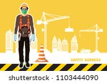 safety harness equipment and... | Shutterstock .eps vector #1103444090